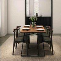 众美德中式双人圆餐桌椅,实木餐桌图片,酒店餐桌定做