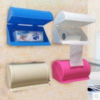爆款卫生间纸巾盒吸盘免打孔厕纸盒防水纸巾架厨房卷纸器卫生纸盒