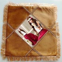 厂家直销热转印烫画抱枕 热转印耗材空白咖啡斜条纹枕套靠枕抱枕