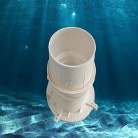 PVC排水预埋套筒直接止水套管  直通排水管件PVC防水套筒头