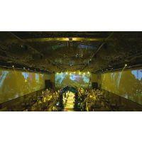 投影机租赁 3D视频制作 3D全息婚礼 楼体投影 全息5D宴会厅安装