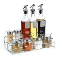 调味罐油壶套装不锈钢盐味精佐料盒玻璃酱油醋调料瓶餐厅创意厨房