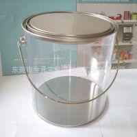 厂家供应PVC铁桶 胶片铁盒 PVC手提水桶 食品铁桶 透明水桶礼品盒