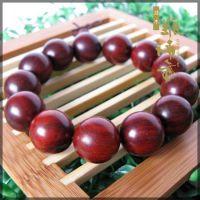 摆件红木手串 小叶紫檀木佛珠18mm 实木质顺纹小孔 1.8厘米情侣手