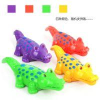 6883 热卖发条小鳄鱼 嘴跟尾巴会动的小鳄鱼 儿童上链玩具地摊