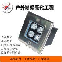 24w钢面偏光led地埋灯方形嵌入安装埋地灯磨砂玻璃防眩投射灯