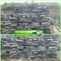 英德片石厂家 厂家矿山直销黑色片石 黑色铺路石 贴墙英德石产地