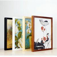 实木画框装裱卡纸木质4开8k素描白色边挂墙相框简约内衬水彩a3 a4