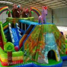 河南大型猛犸象儿童乐园充气滑梯xy2019年新款户外蹦蹦床生意好