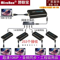 厂家直销妙联宝1080P视频hdmi延长器160米RJ45网线一发多收网络收发器HSV373