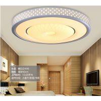 led吸顶灯 圆形 卧室 客厅灯温馨大气创意房间灯具 餐厅灯简现代