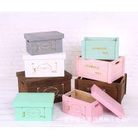定做桌面小型整理收纳木盒 环保实木收纳盒化妆品储物木盒