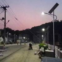 承运厂家BY0053宁夏一事一议新农村建设太阳能路灯6米40W户外照明LED一体化路灯