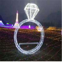 定制非标造型灯 LED灯光节图案灯 发光钻戒造型灯 商场美陈