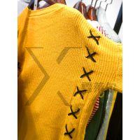 商场常见的品牌女装W.M.J圆领毛衣货源尾货批发渠道新款组货包