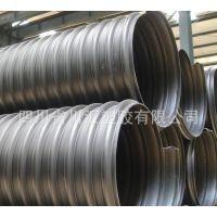 成都川汇塑胶HDPE钢带增强螺旋波纹管 dn300报价 市政排水排污管