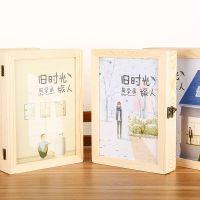 同学录旧时光旅人小学生女毕业纪念册木质留言学生木盒同学录