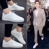 2018新款夏季男鞋子小白鞋韩版潮流板鞋男士休闲白鞋帆布潮鞋百搭