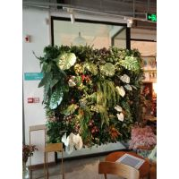 北京设计仿真绿植墙假植物背景墙植物墙安装批发仿真竹子隔断