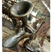 公园景观铸铜雕塑大喇叭 铸铜雕塑工程承包