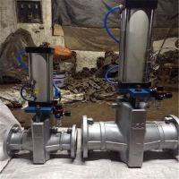 昆明法兰常开型气动管夹阀GJ6K41X-6L型气动调节管夹阀