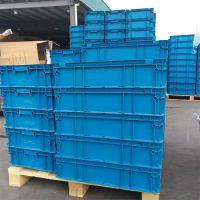 山西阳泉地区厂家直销科尔福KEF-ES6280蓝色HDPE塑料周转箱可堆式周转箱