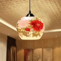 厂家批发 景德镇陶瓷田园中式餐厅吊灯 仿古典客厅灯具创意装饰灯