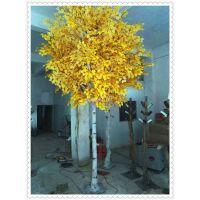 圣缘仿真树假树仿真白桦树创意树大型植物装饰树酒店大厅布景树干