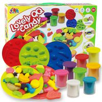 外贸热销 3D创意彩泥橡皮泥水果蛋糕模具工具套装儿童家家DIY玩具