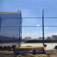 蓝色防风抑尘网 金属板网厂家 煤场挡风板