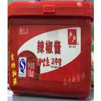 户户辣椒酱1kg 韩国韩式辣椒酱 石锅拌饭酱 炒年糕辣酱 韩式酱