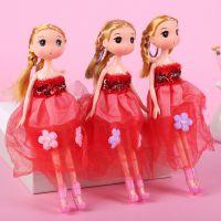 婚纱款26cm搪胶迷糊娃娃挂件可爱公仔时尚创意宝宝玩具批发