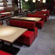 湖州主题风格家具定做,卡座沙发餐桌组合效果