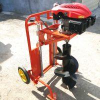 【汽油植树挖坑机园林汽油挖坑机高效螺旋挖坑机械图片】