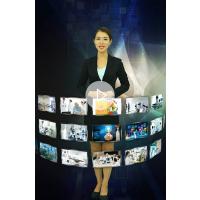 武汉恒鑫多媒体互动虚拟导向服务员企业展示厅全息迎宾全息投影虚拟幻影成像服务0226