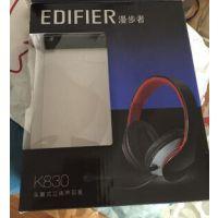 Edifier/漫步者k830耳机头戴式潮长线带麦hifi重低音电脑游戏耳麦