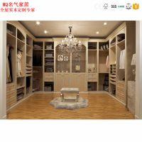 简约现代风格板式组合柜 大衣橱法式开放U型衣帽间卧室衣柜定制