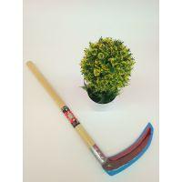 农用工具大号木杆镰刀 , 园林割草用具镰刀,1件70把