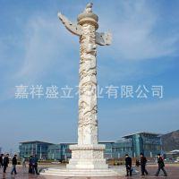 厂家批发石雕广场盘龙柱 青石汉白玉文化石柱子