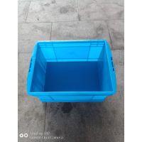 供应无锡塑料箱徐州塑料箱常州箱465- 260周转箱蓝色收纳储箱