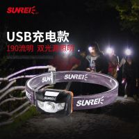 山力士悦动3头灯USB锂电池可充电式户外头灯登山徒步露营LED头戴