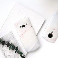 美图M8简约珊瑚大理石纹理IMD磨砂手机壳M6全包软壳保护套白色T8