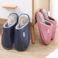 一件代发coqui皮拖鞋 女冬季新款家居保暖拖鞋 男士情侣室内皮拖