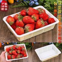6号塑料打包盒 方形水果吸塑盘 生鲜盘 厚 一次性沙拉盒100只包邮