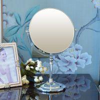 帝门特台式化妆镜8英寸大号欧式公主镜 便携结婚梳妆镜双面镜子