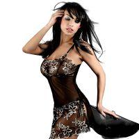 大码外贸情趣内衣欧美性感蕾丝刺绣透视装吊带睡裙