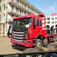 江淮前四后八挖机板车可拖40吨左右挖机格尔发K5挖机平板拖车4.0L
