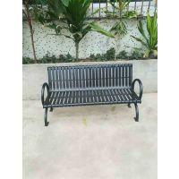 供应户外园林休闲椅铁艺公园椅小区广场长条双人排椅室外长椅子