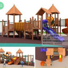 度假村木质组合滑梯 爆款户外拓展滑梯 儿童乐园攀爬架 亲子农庄木质滑梯定制