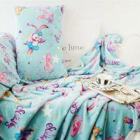 卡通史黛拉芭蕾舞兔子空调毯可爱珊瑚绒毯床单枕头套 午睡盖毯